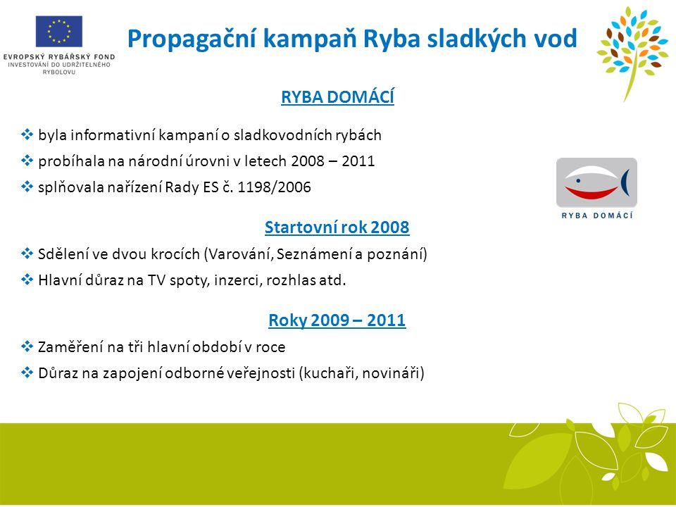 Propagační kampaň Ryba sladkých vod Recirkulační systém RYBA DOMÁCÍ  byla informativní kampaní o sladkovodních rybách  probíhala na národní úrovni v