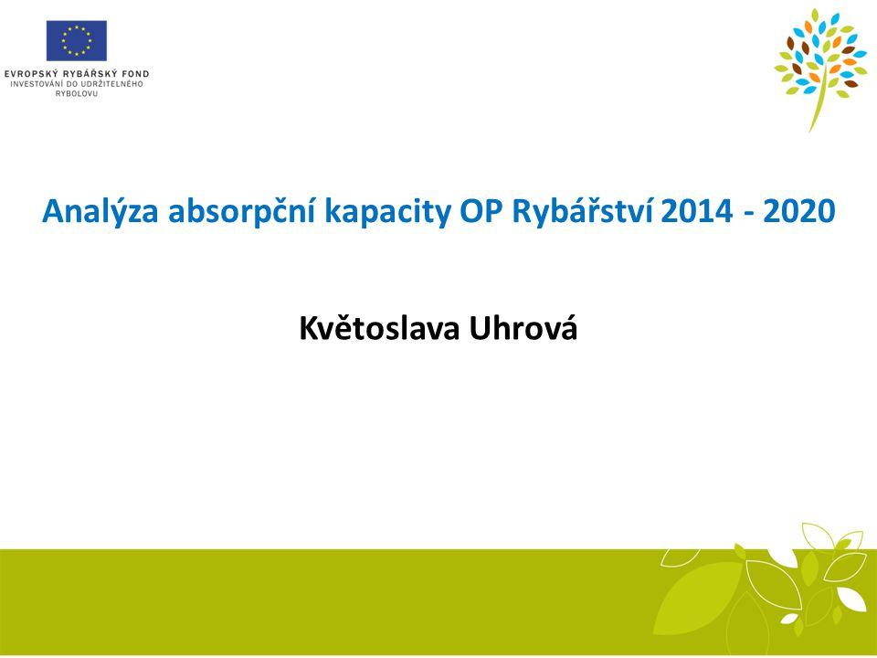 Analýza absorpční kapacity OP Rybářství 2014 - 2020 Květoslava Uhrová