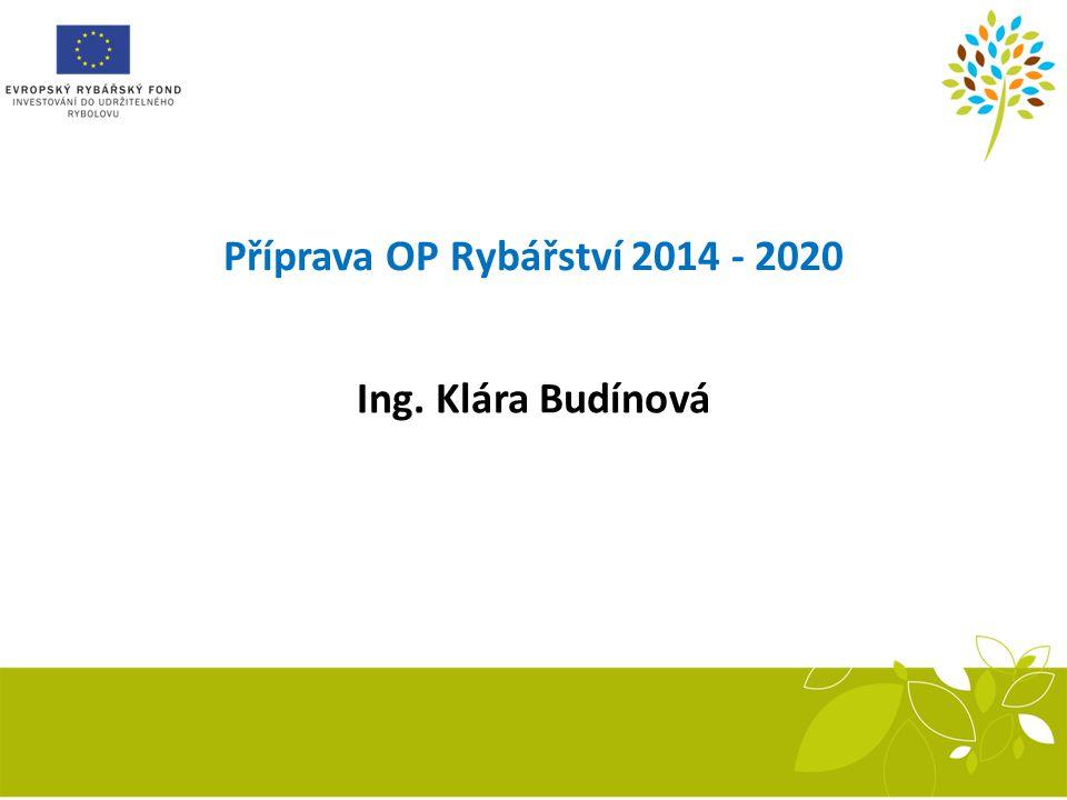 Příprava OP Rybářství 2014 - 2020 Ing. Klára Budínová