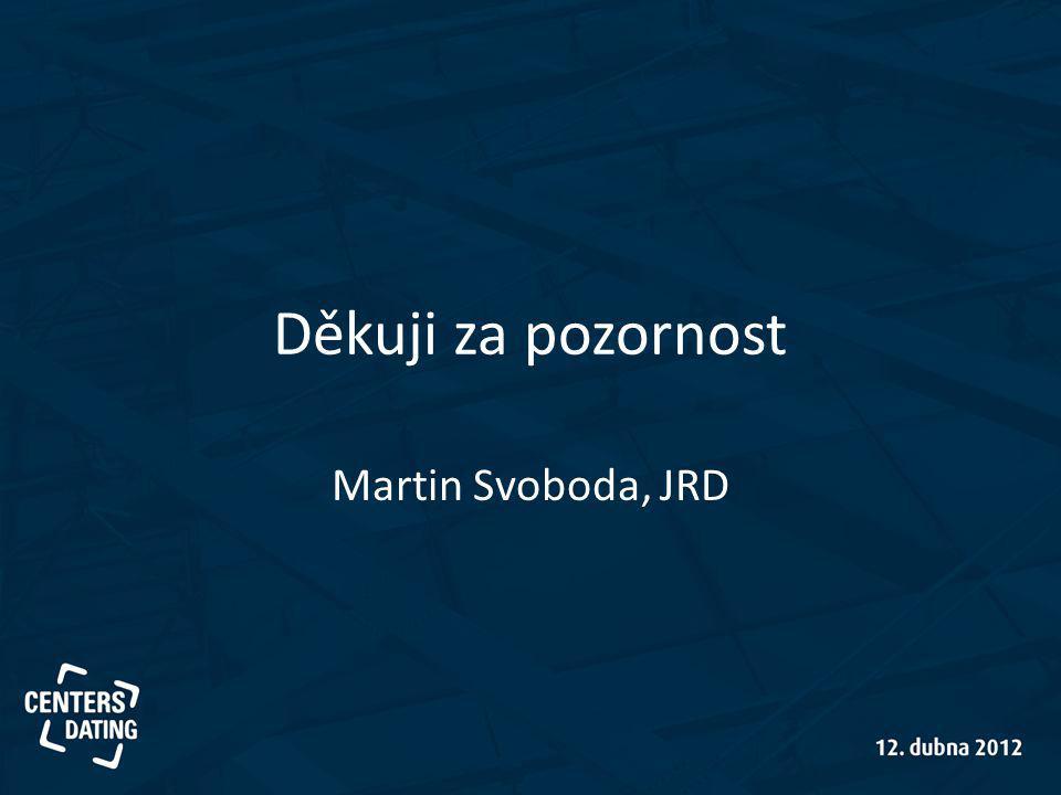 Děkuji za pozornost Martin Svoboda, JRD