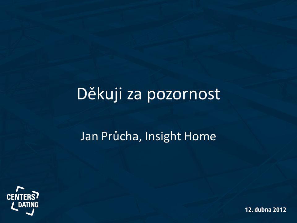 Děkuji za pozornost Jan Průcha, Insight Home