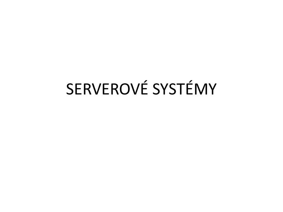 Definice slova SERVER Server – používá se v rámci síťové architektury Client-Server a označuje: Hardware, nebo software (v podobě aplikace, či operačního systému), který poskytuje své zdroje pro své klienty (Clients).