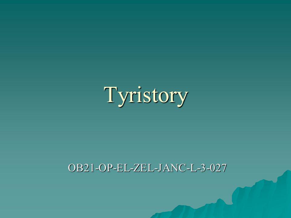 Tyristory OB21-OP-EL-ZEL-JANC-L-3-027