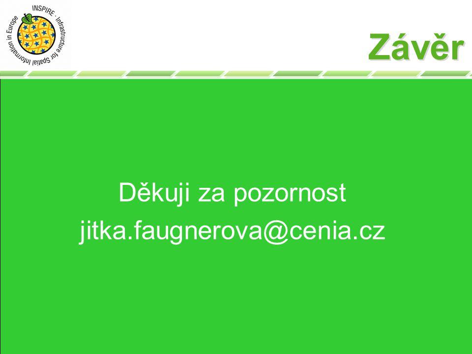 Závěr Děkuji za pozornost jitka.faugnerova@cenia.cz