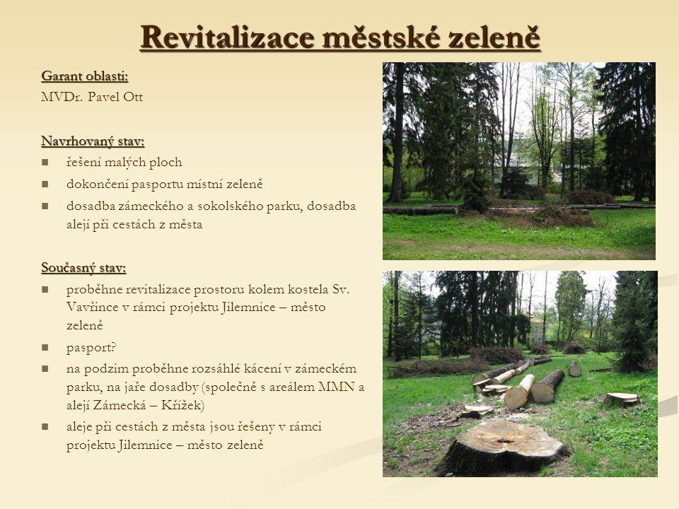 Revitalizace městské zeleně Garant oblasti: MVDr.