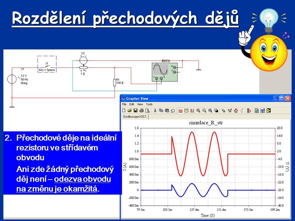 Stejnosměrný zdroj – R, C R C U uRuR U=u C 2.Vypnutí obvodu (vybíjení kondenzátoru) *kondenzátor je nabitý na napětí zdroje *obvodem začne procházet vybíjecí proud (i v ), kondenzátor se začne vybíjet (předpokládáme původní směr proudu) *na rezistoru vzniká úbytek napětí u R (předpokládáme původní směr napětí) *energie kondenzátoru se na odporu přemění na teplo iviv *v prvním okamžiku je velikost proudu dána počátečním napětím na kondenzátoru a velikostí odporu rezistoru – I 0 *napětí na kondenzátoru se postupně snižuje, v obvodu musí platit 2.