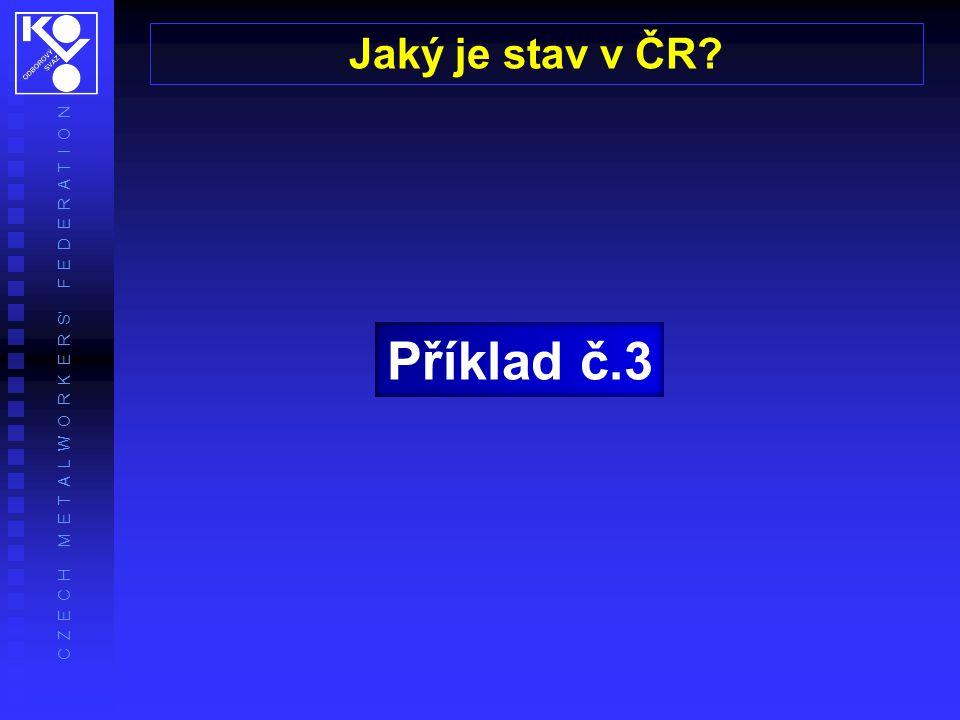 Příklad č.3 Jaký je stav v ČR