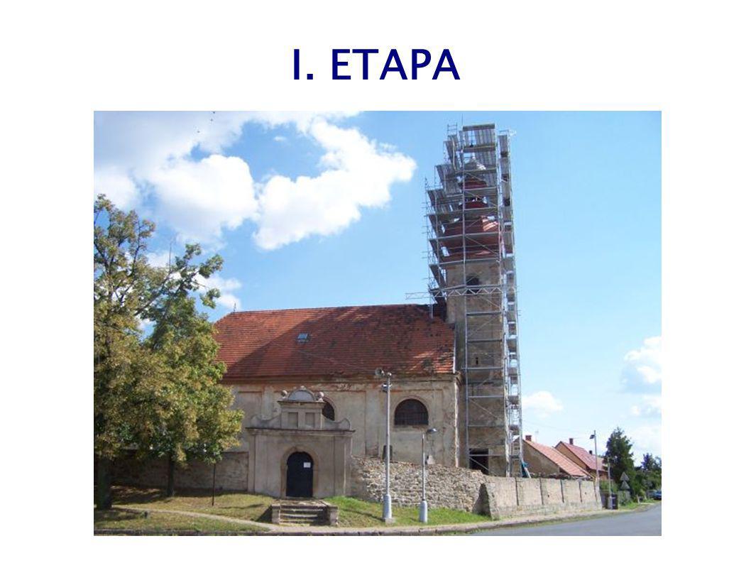 EVROPSKÁ DOTACE v dubnu 2009 starostka podepsala Dohodu s SZIF na evropskou dotaci ve výši 4.031.000 Kč I. etapa : rekonstrukce věže, zastřešení lodě