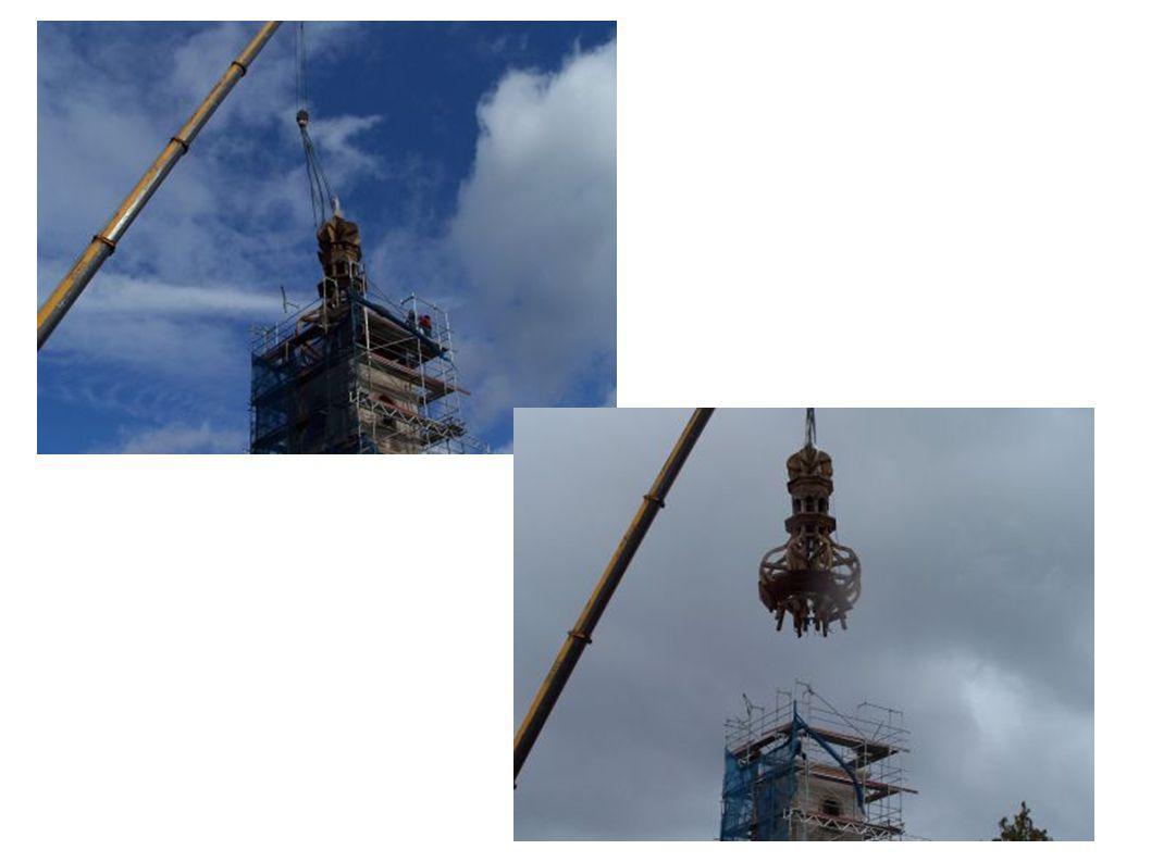 13. října 2009 pro velmi špatný technický stav dřevěné kopule věže bylo rozhodnuto o jejím sejmutí a provádění rekonstrukce na zemi...