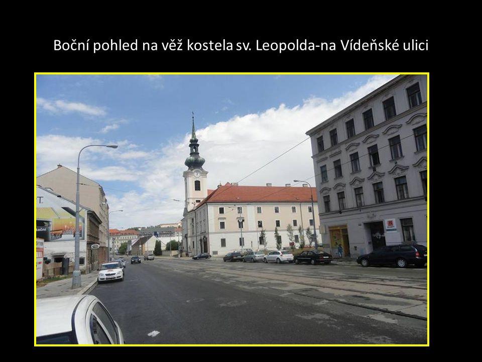 Kostel sv. Leopolda a Klášter milosrdných bratří na Starém Brně- Vídeňská ulice