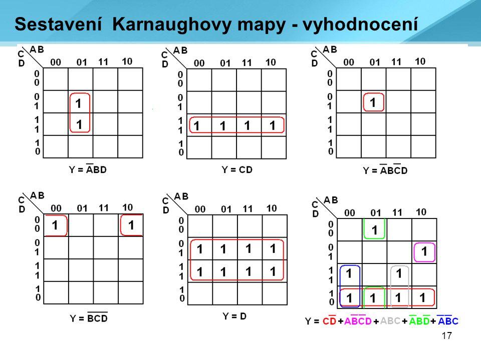 17 Sestavení Karnaughovy mapy - vyhodnocení