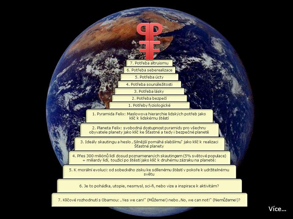 7. Potřeba altruismu 6. Potřeba seberealizace 5. Potřeba úcty 4. Potřeba sounáležitosti 3. Potřeba lásky 2. Potřeba bezpečí 1. Potřeby fyziologické 1.