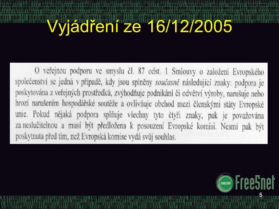 5 Vyjádření ze 16/12/2005