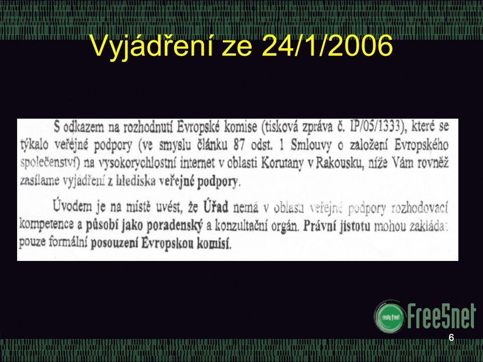 6 Vyjádření ze 24/1/2006