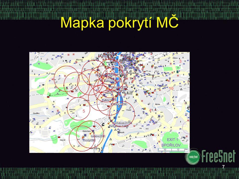 7 Mapka pokrytí MČ