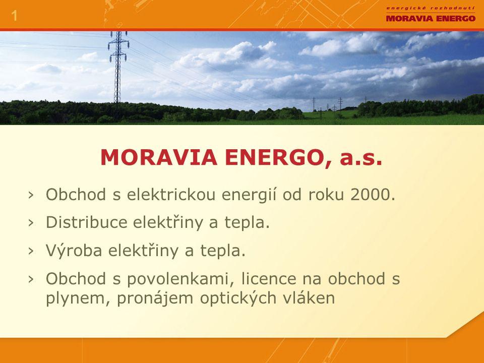 MORAVIA ENERGO, a.s.1 ›Obchod s elektrickou energií od roku 2000.