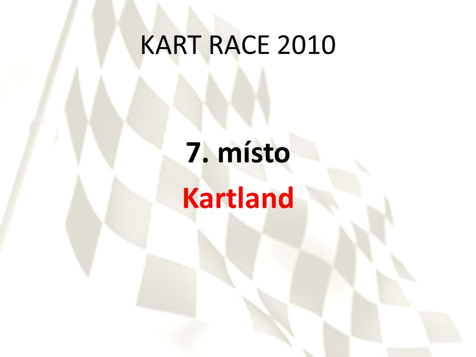 KART RACE 2010 6. místo Solid Drive