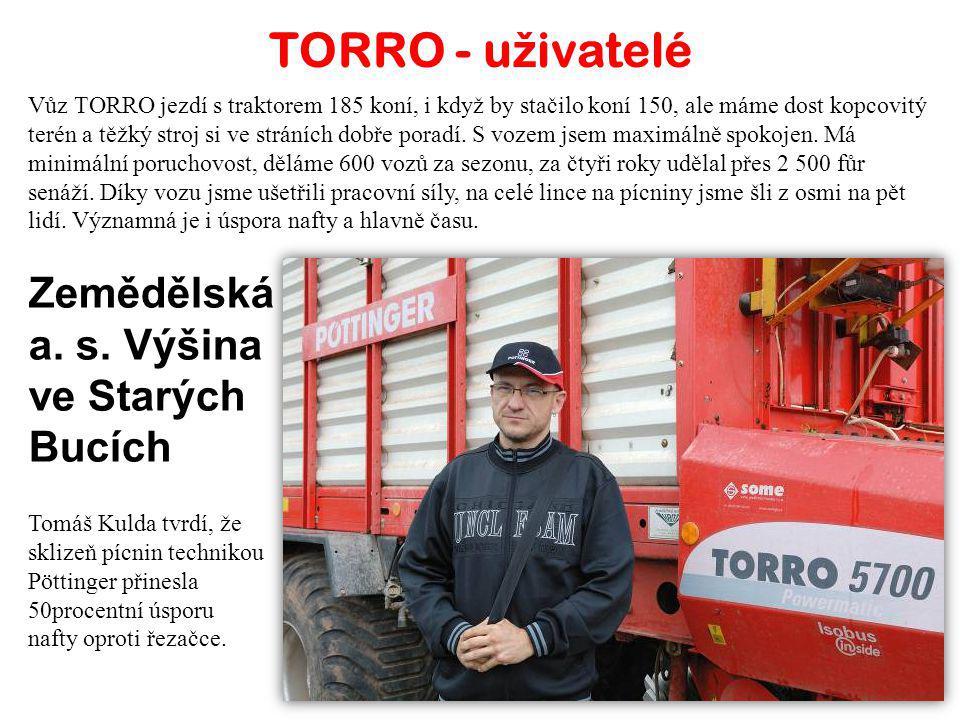 Agroenergo MD Univerzální vůz TORRO 5700 L využíváme nejen při sklizni senáže, sena a slámy, ale rovněž i pro odvoz kukuřice. Vůž odveze 13 až 15 tun