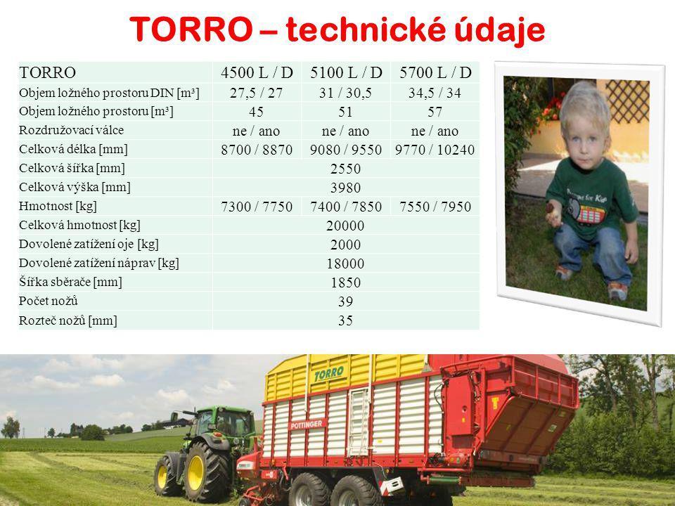 Univerzální vozy pro sklizeň senáže, sena, slámy a odvoz kukuřice TORRO 4500 / 5100 / 5700