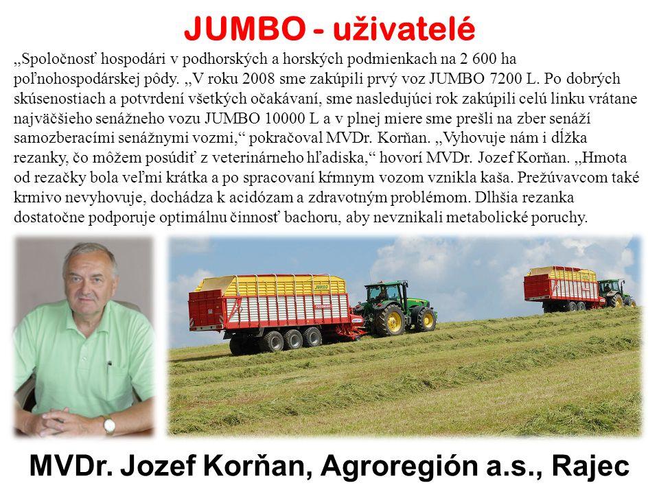 JUMBO - u ž ivatelé Milan Hutník, Kal, podnik služeb Spolupráci s firmou Pöttinger zahájil Milan Hutník z Kalu na Jičínsku v roce 1997.