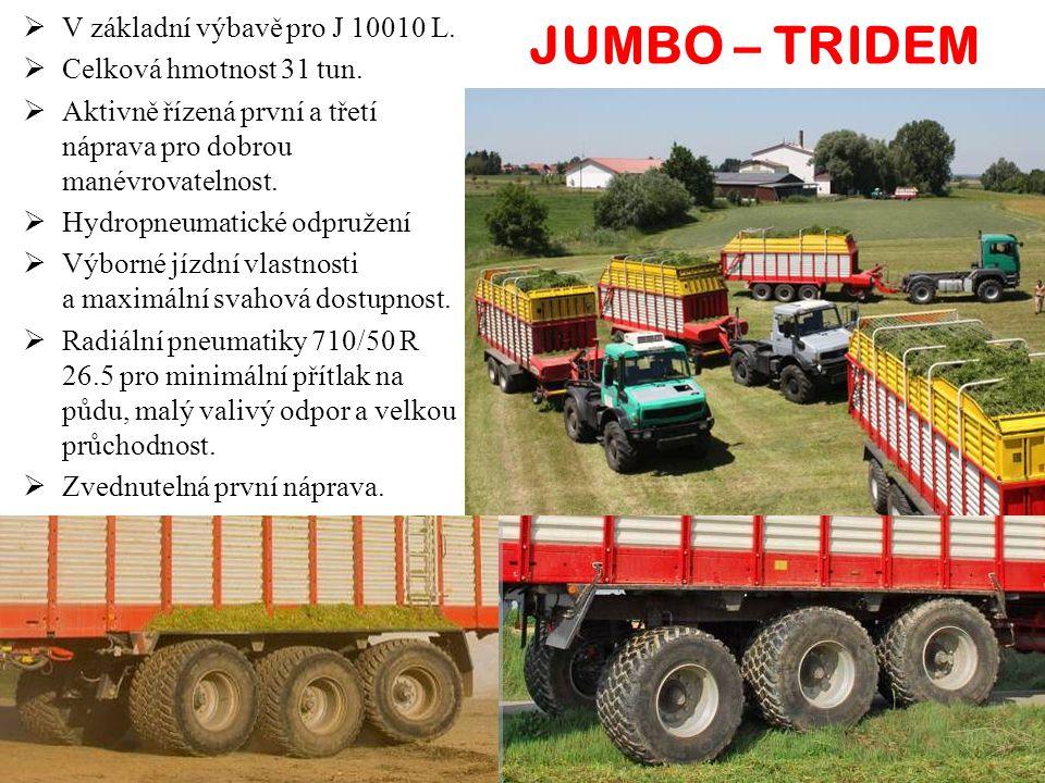  V základní výbavě pro J 10010 L. Celková hmotnost 31 tun.