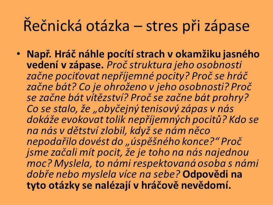 Řečnická otázka – stres při zápase Např.