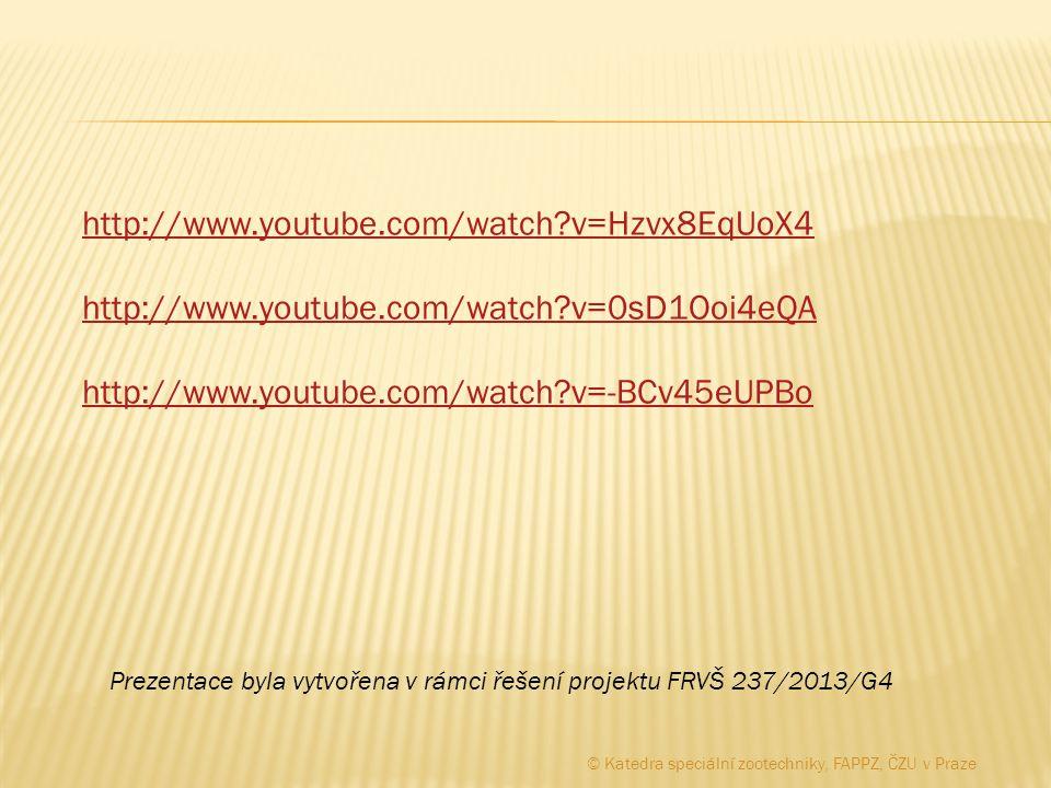 http://www.youtube.com/watch?v=Hzvx8EqUoX4 http://www.youtube.com/watch?v=0sD1Ooi4eQA http://www.youtube.com/watch?v=-BCv45eUPBo Prezentace byla vytvo