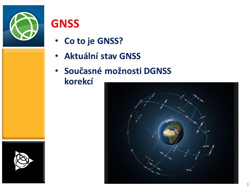 2 GNSS Co to je GNSS? Aktuální stav GNSS Současné možnosti DGNSS korekcí