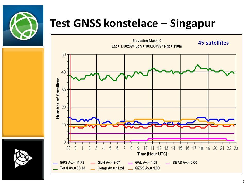 5 Test GNSS konstelace – Singapur 45 satellites
