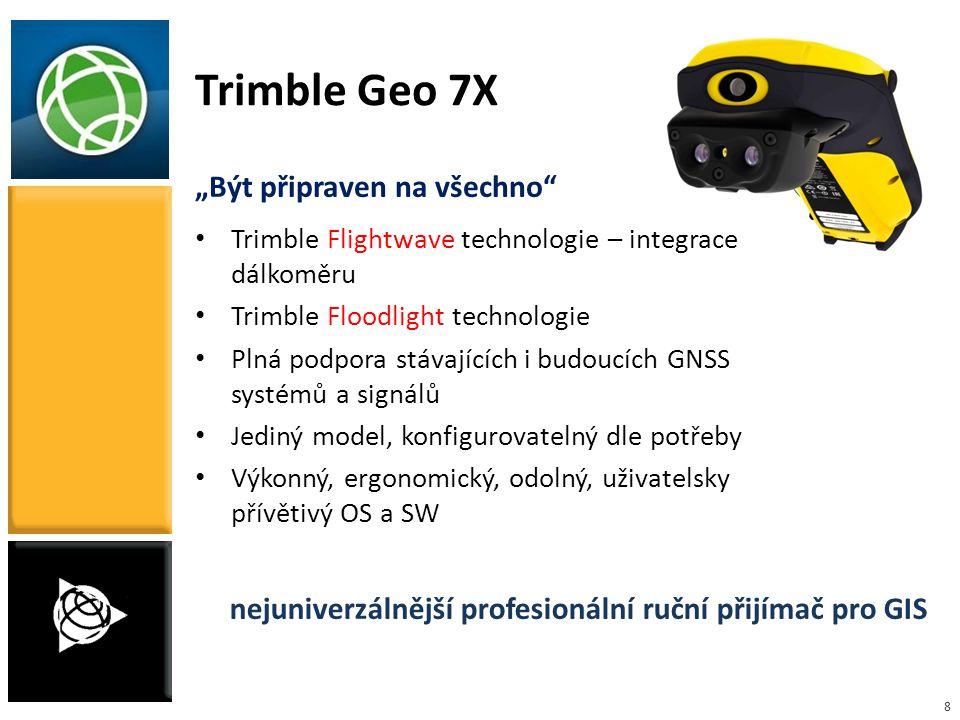 """8 """"Být připraven na všechno"""" Trimble Flightwave technologie – integrace dálkoměru Trimble Floodlight technologie Plná podpora stávajících i budoucích"""
