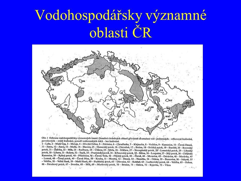 Vodohospodářsky významné oblasti ČR