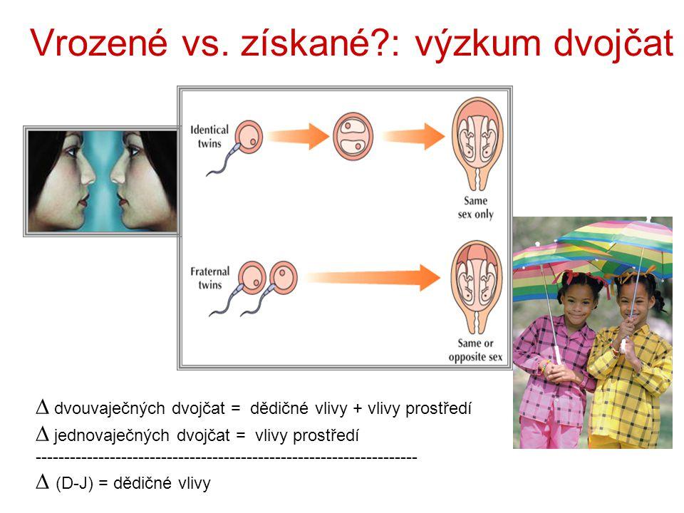"""Determinace osobnosti rodíme se s určitým složením genů; rozehráváme ho v reakční normě právě způsobem výchovy nature AND nurture (nikoli příroda nebo výchova ale příroda A výchova) stejné zážitky nevyvolávají stejné reakce, ani nemají stejný vliv (ztráta blízkého člověka, hyperprotektivní matka…) – lidé se rodí s různými geny – různými mozky- ty jsou základem odlišných ososbností rodiče (a učitelé) nemohou ovlivnit vše co jejich děti dělají, je důležitější děti poznat, než se je snažit """"vymodelovat do ideálu – dovolit uskutečnit a rozvinout potenciál na svět přicházíme jako nějak určení jedinci – zbytek života je hledání co jsme vlastně zač"""