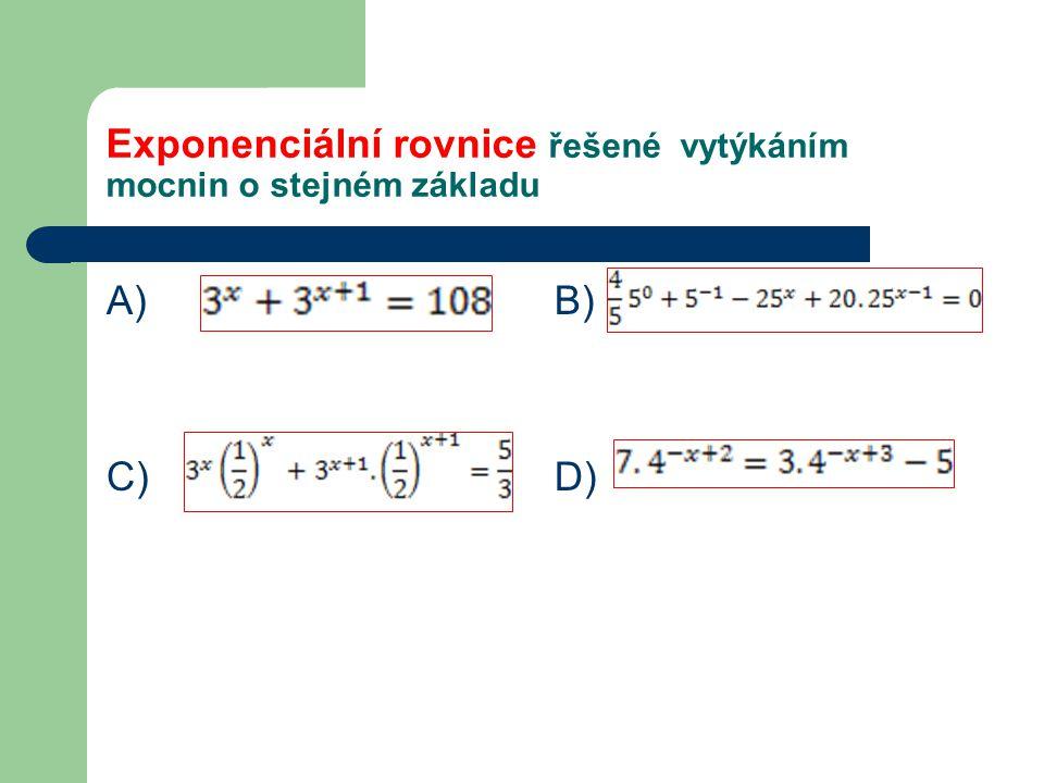 Výsledky A) C) B) D)