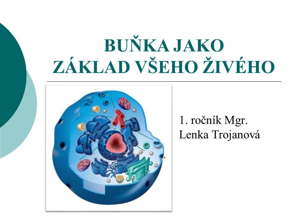 BUŇKA JAKO ZÁKLAD VŠEHO ŽIVÉHO 1. ročník Mgr. Lenka Trojanová