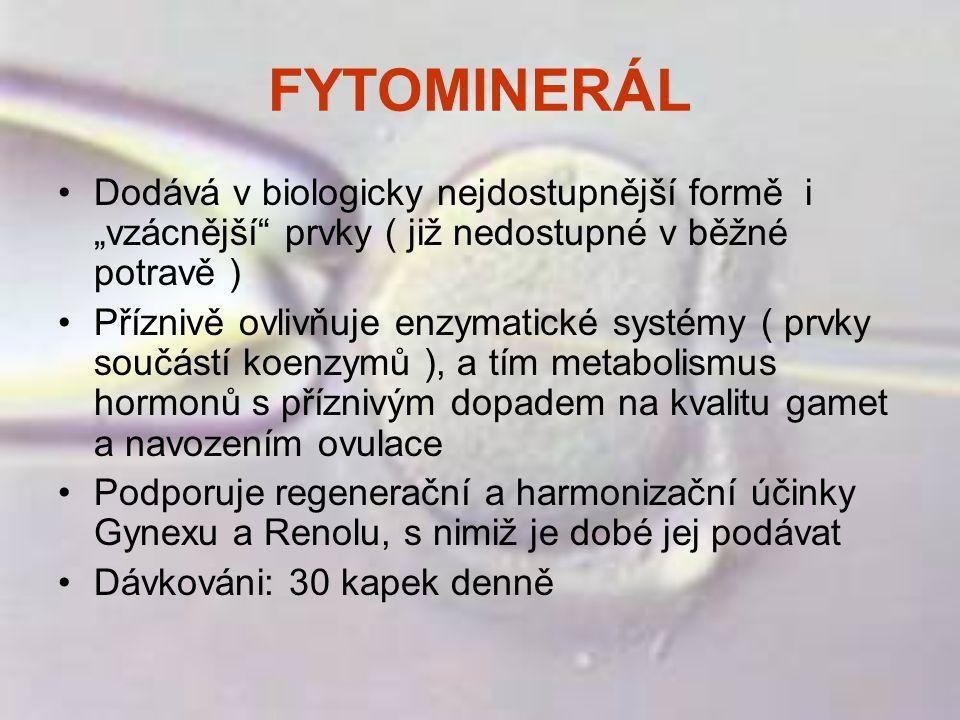 """FYTOMINERÁL Dodává v biologicky nejdostupnější formě i """"vzácnější"""" prvky ( již nedostupné v běžné potravě ) Příznivě ovlivňuje enzymatické systémy ( p"""