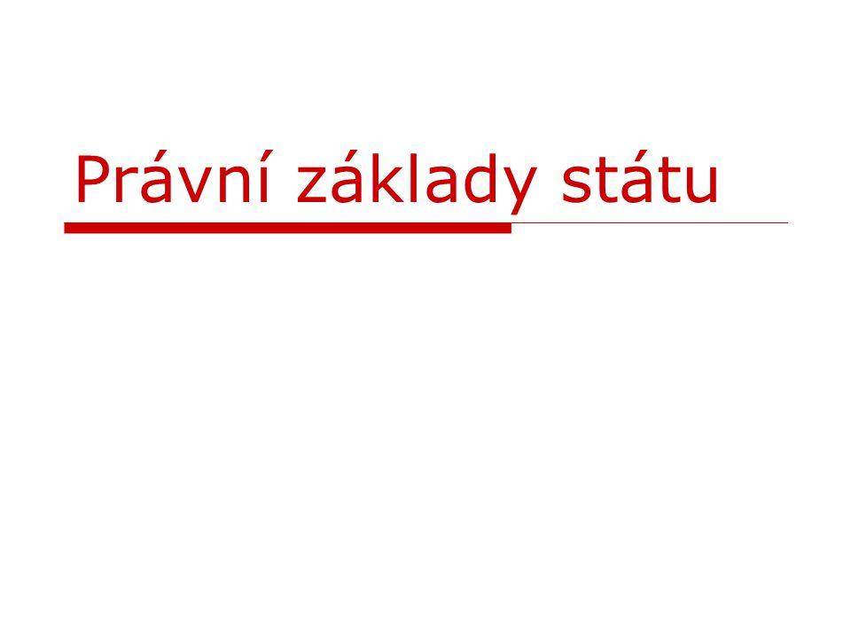 Obsah  znaky státu  typy a formy státu  státní občanství ČR  Ústava ČR  složky státní moci