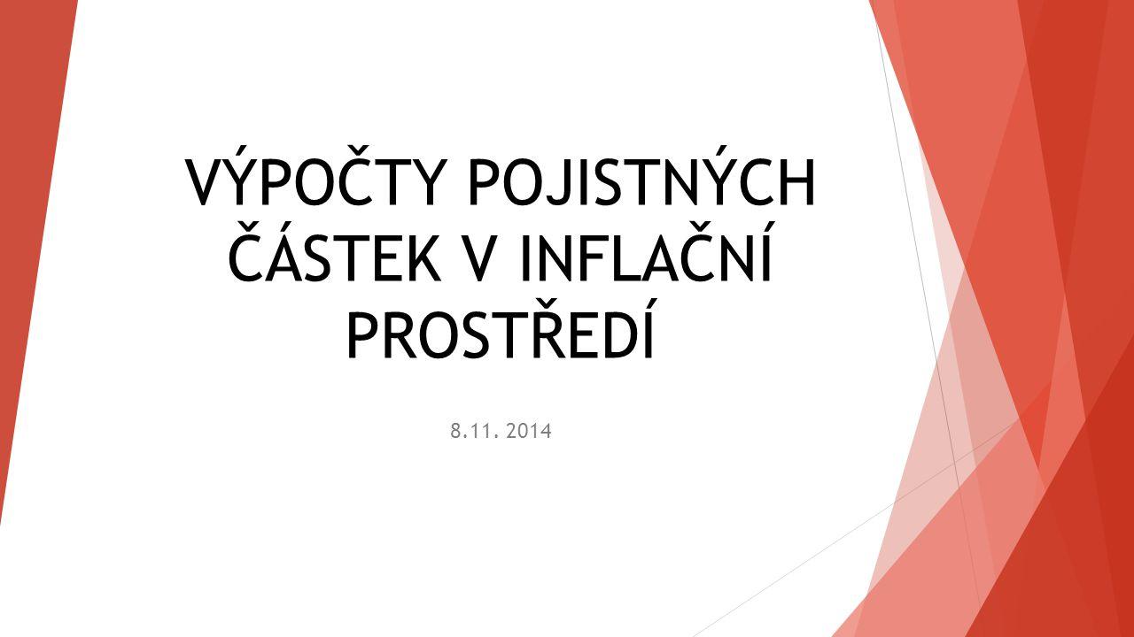 VÝPOČTY POJISTNÝCH ČÁSTEK V INFLAČNÍ PROSTŘEDÍ 8.11. 2014