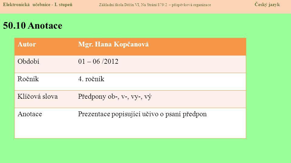 50.10 Anotace Elektronická učebnice - I.