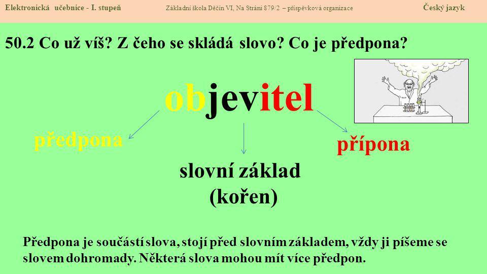 50.3 Jaké si řekneme nové termíny a názvy.Elektronická učebnice - I.