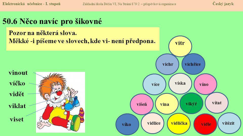 50.7 CLIL Elektronická učebnice - I.