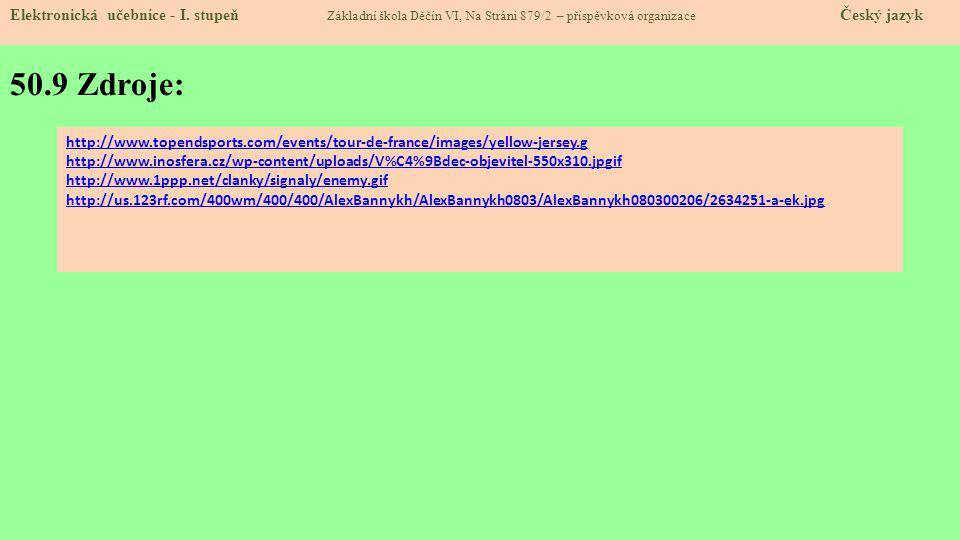 50.9 Zdroje: Elektronická učebnice - I.
