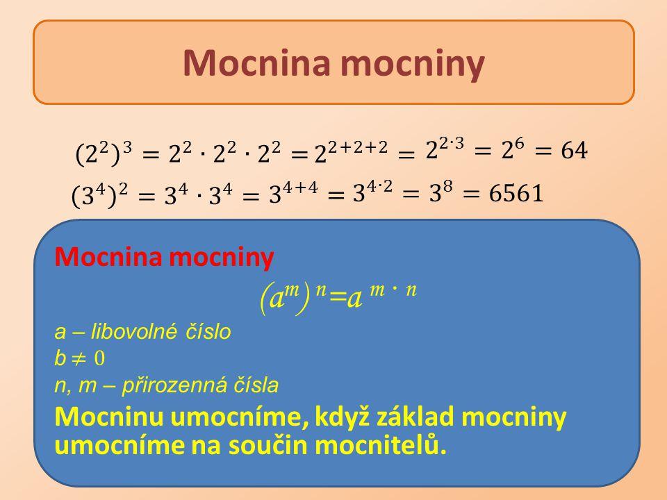 Mocnina mocniny