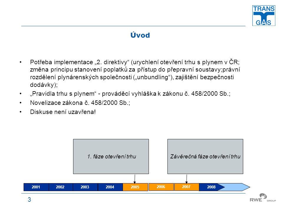 4 Výrobce Produkce zemního plynu na území ČR je zanedbatelná z hlediska pokrytí potřeb trhu  závislost na importu zemního plynu (Rusko, Norsko); Smlouvy s producenty zemního plynu –Transgas, a.s.