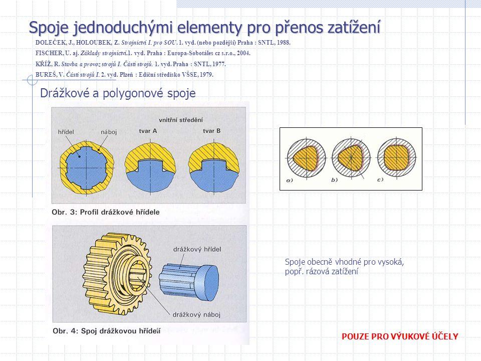 Spoje jednoduchými elementy pro přenos zatížení DOLEČEK, J., HOLOUBEK, Z.