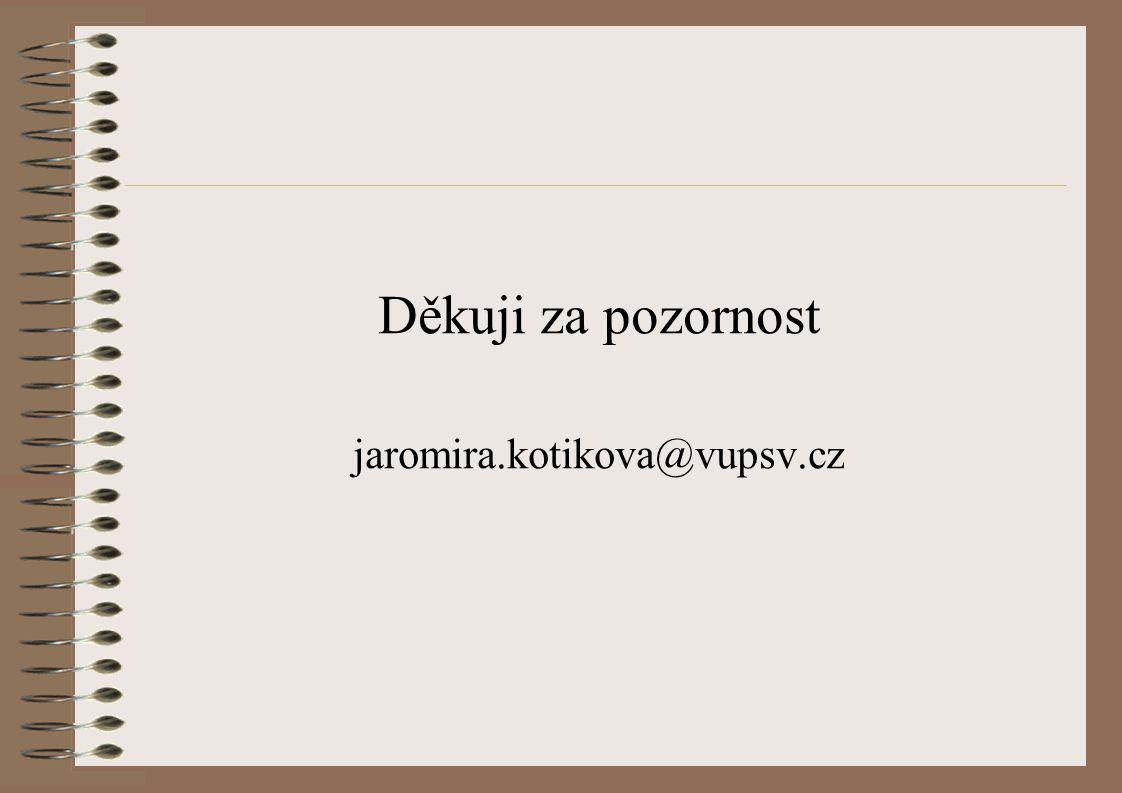 Děkuji za pozornost jaromira.kotikova@vupsv.cz