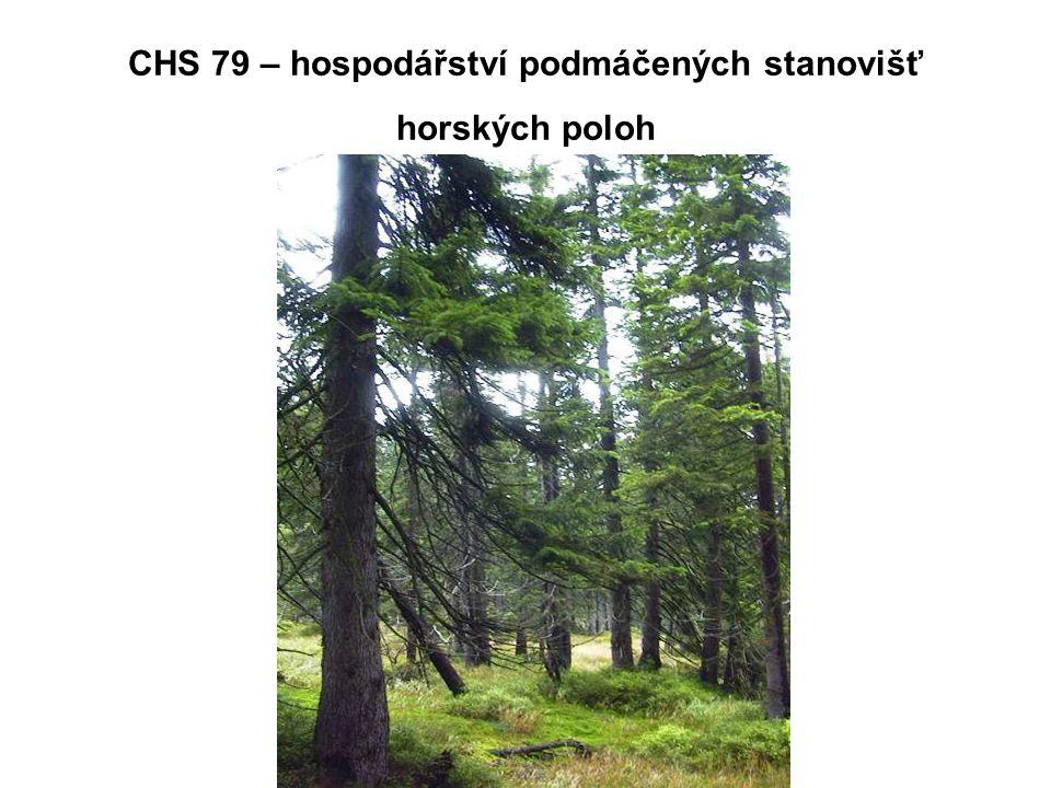 CHS 79 – hospodářství podmáčených stanovišť horských poloh