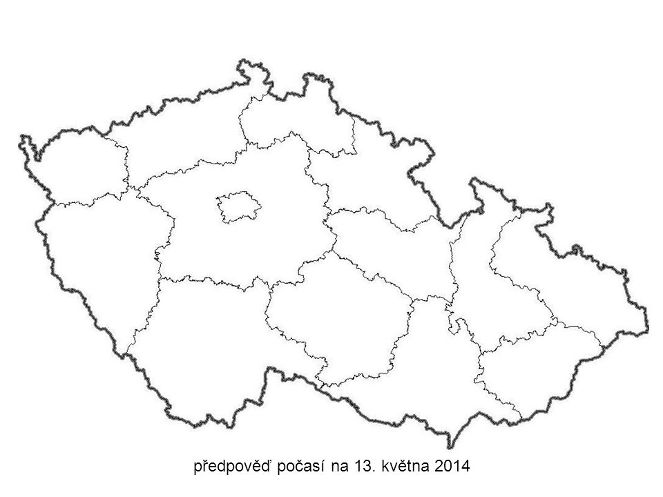 předpověď počasí na 13. května 2014