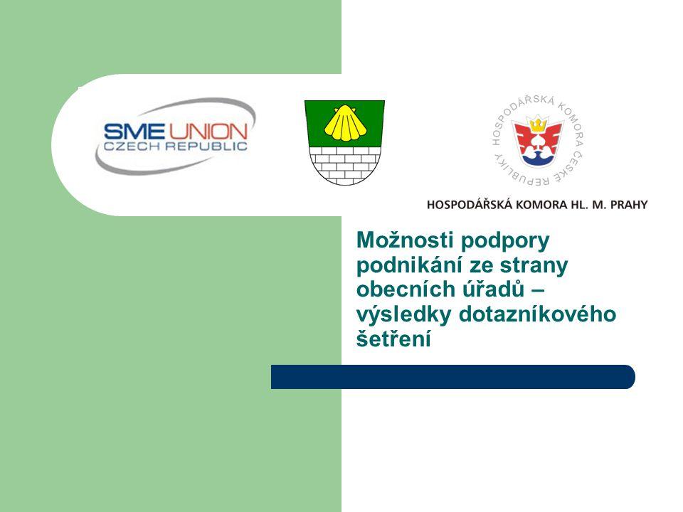 Možnosti podpory podnikání ze strany obecních úřadů – výsledky dotazníkového šetření