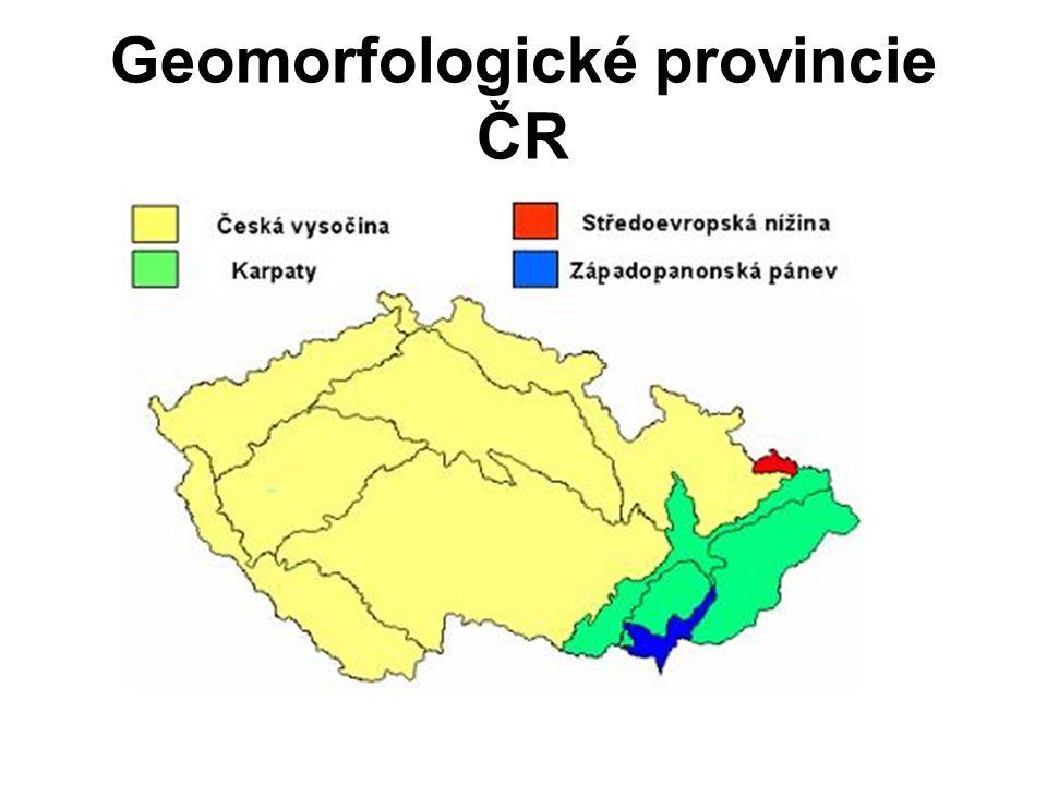 Geomorfologické provincie ČR