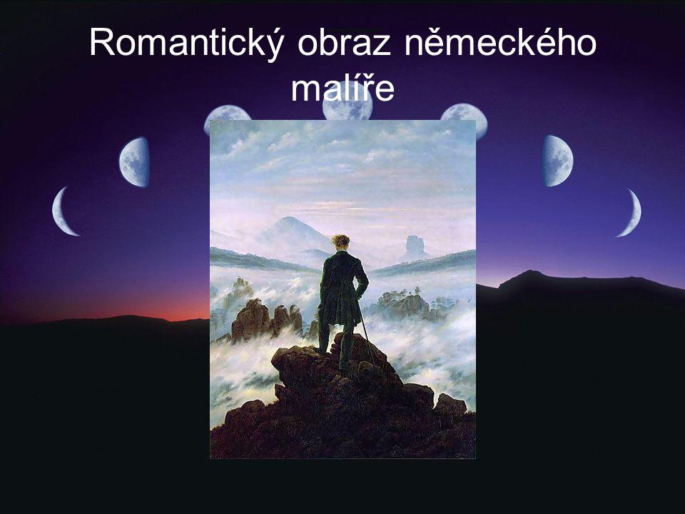 Romantický obraz německého malíře